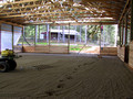 60 x 135 riding arena with footing - end view
