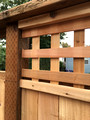 7 ft cedar privacy fence with lattice trim detail #3