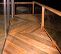 cedar 2nd story deck with glass railing