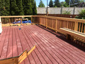 trex 2-level deck in progress #3